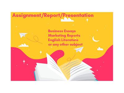Make you a business assignment