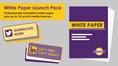 Format your white paper and design social media images