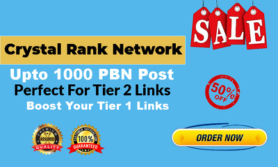 Crystal Rank PBN Network With 250+ PBN Post Links [50% Discount]
