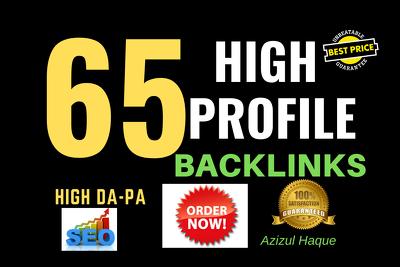 Create 65 Dofollow Profile Backlinks
