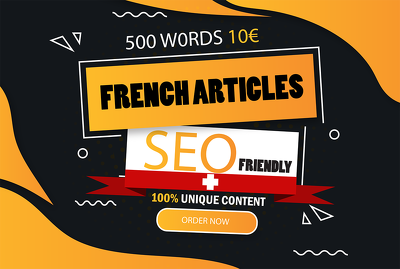 write 500 words article in French for your blog