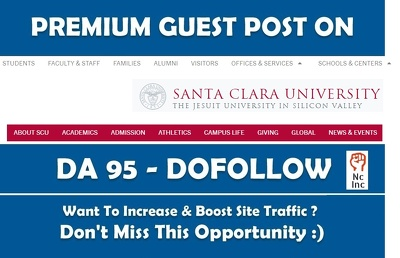 Best EDU guest post on Santa Clara University - scu edu - DA 79