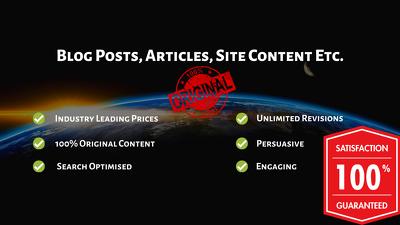 4 x 500 word blog posts