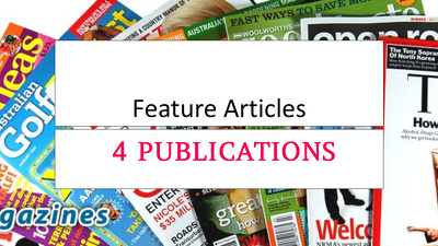 Do Full Feature / Interview on 4 x Premium Media  Publications