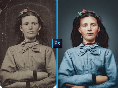 Photo restoration, colorize and enhancing