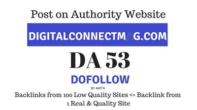 Publish Guest Post on digitalconnectmag.com, DA53