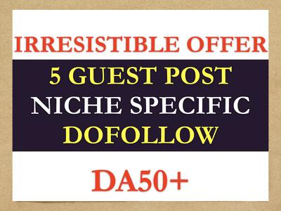 nEW2020 - 5 guest posts DA50 DOFOLLOW domains Irresistible OFFER