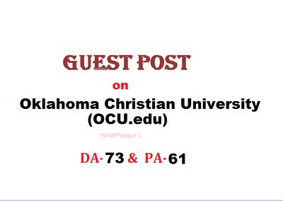 Publish content at OCU.edu site with DF backlink(DA-73, PA-61)