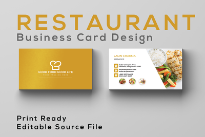 Design business card for your restaurant