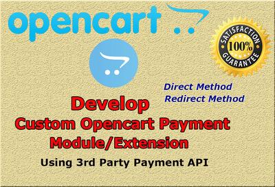 Develop custom opencart payment module extension