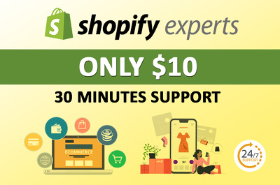 Fix any bug, and theme customization on your shopify store