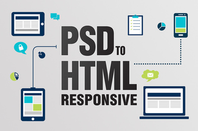 Convert PSD to HTML with responsive & compatible with all device