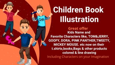 Draw illustration for children book