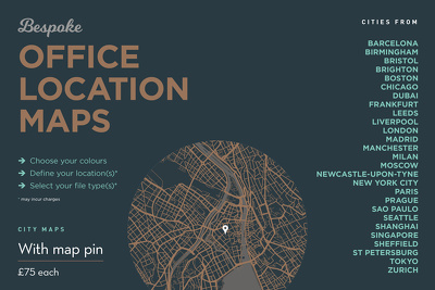 Create a bespoke map of an office location