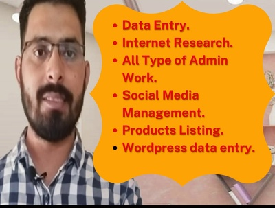 Do all type of admin and data entry work.
