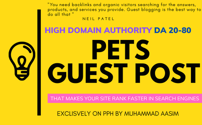 Write and publish guest post on high da pets blog