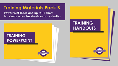 Format a set of training materials (Package B)