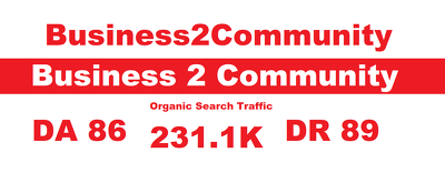 Guest Post on Business2Community.com Business2Community DA 86