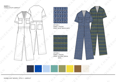 Create Fashion Design Board (trend research/ ref images/ CAD)