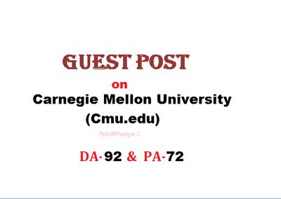 Publish content on Cmu.edu with DF backlink(DA-92, PA-72)