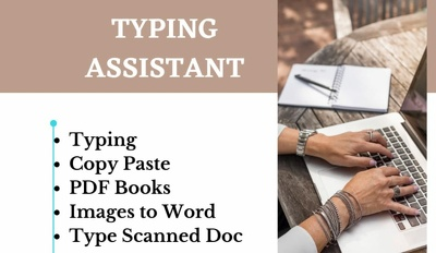 Type 1000 words from handwritten or scanned documents