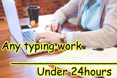 Retype all your work under 24 hours