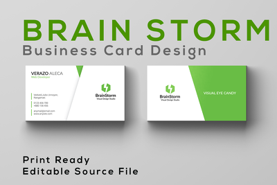 Design your business card or letterhead