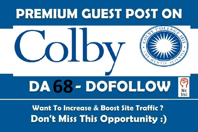 EDU guest post on Colby College - colby edu University - DA 68