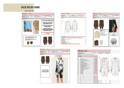 Create a technical pack for your garment/accessory