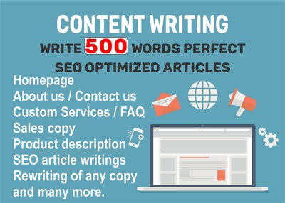 Write 4 x 500-word articles