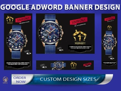 Design one  google  ads banner with 20 sizes