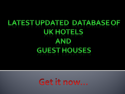 offer 12K+ Records of UK Hotels & Guest Houses