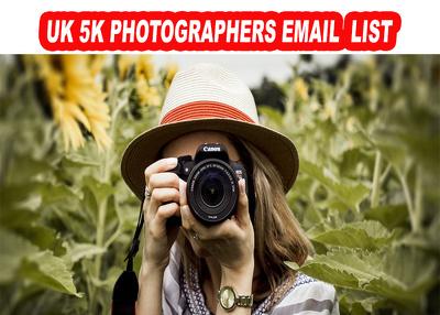 Photographers Email Database 5K from UK