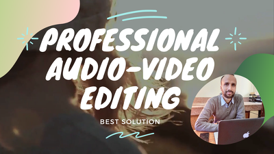 Do high quality audio and video editing in a few hours