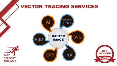 Convert JPG to Vector, Raster to Vector, Vectorize Image