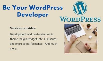 Be your wordpress developer