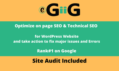 Optimize on page SEO & Technical SEO for WordPress Website