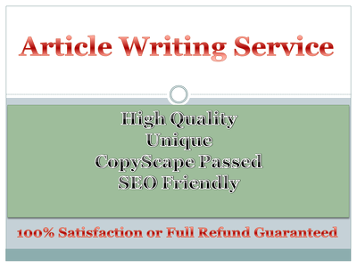 write a 400+ words SEO Optimized, high quality article