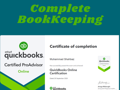 Do bookkeeping using QuickBooks Online up to 2000 transactions