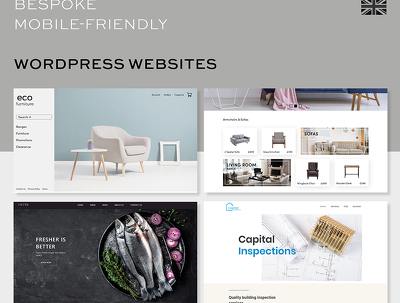 Design & develop bespoke, mobile-friendly Wordpress website