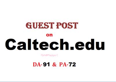 Publish content on Caltech.edu with DF backlink(DA-91, PA-72)