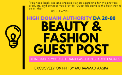 Write and publish guest post on high da beauty, fashion blog