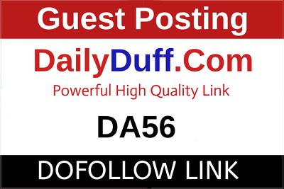 Guest post on DailyDuff, DailyDuff.com