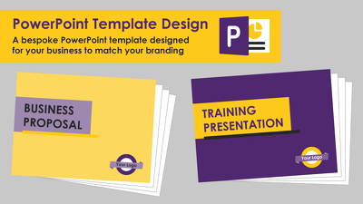 Design a bespoke PowerPoint template, based on your branding