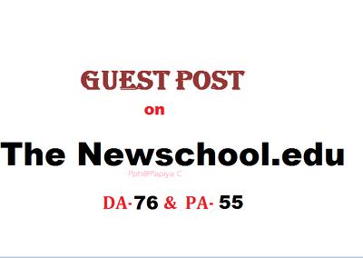 Publish content at Newschool.edu site with DF backlink(DA-76)