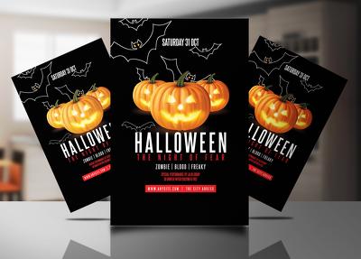 Design Halloween flyer or poster