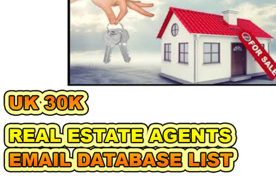 UK  Real Estate Agents  Email Database List 30K