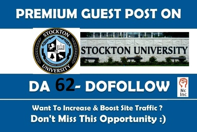 EDU guest post on Stockton University - stockton edu - DA 62