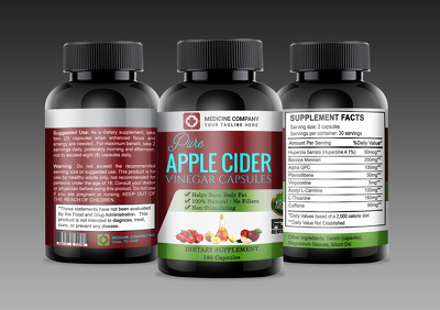 Attractive health supplement & medicine product label packaging
