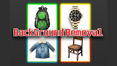 Remove 30 background, for products & Retouch